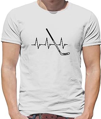 Dressdown Battement de Coeur - Hockey sur Glace - Homme T-Shirt - Blanc - 1133bdb75f85