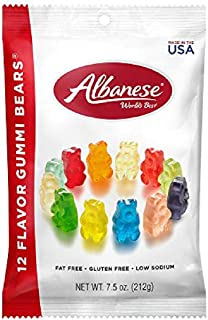 product image for Albanese World's Best 12 Flavor Gummi Bears, 7.5oz Peg Bag (Pack of 12)