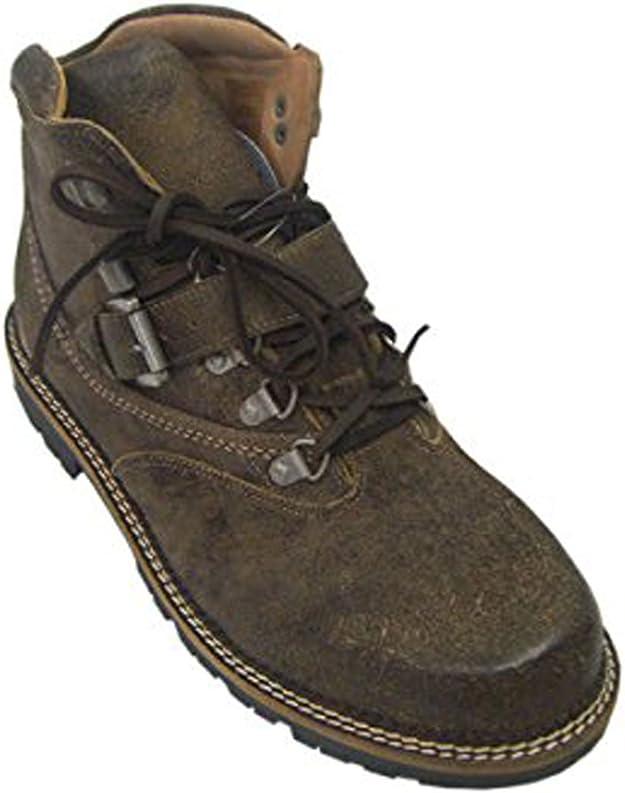 Hombre Traje Regional Botas Tracht Boots (Piel de napa Coffee Alt ...