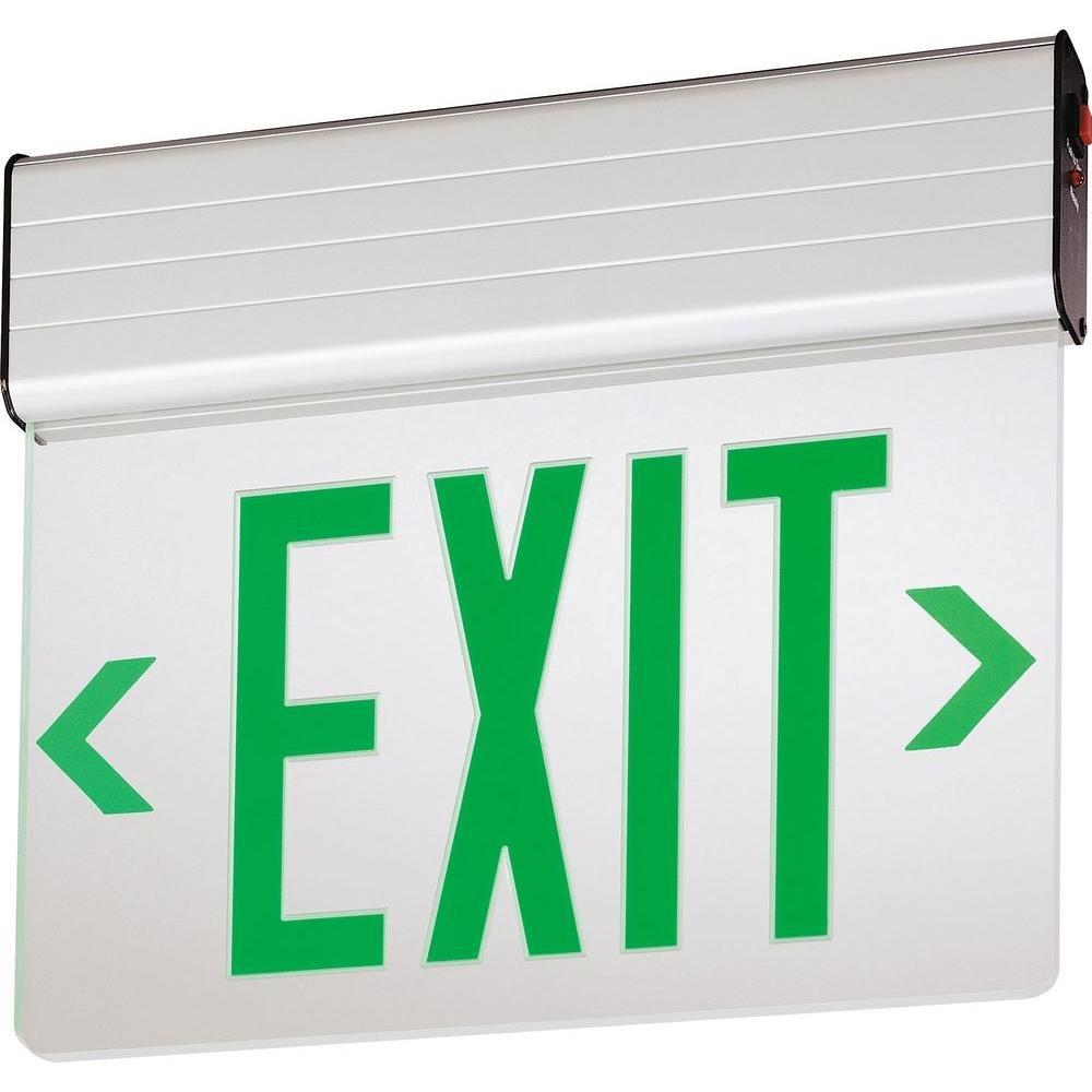 Lithonia Lighting EDG 1 G EL M6 Aluminum LED Emergency Exit Sign