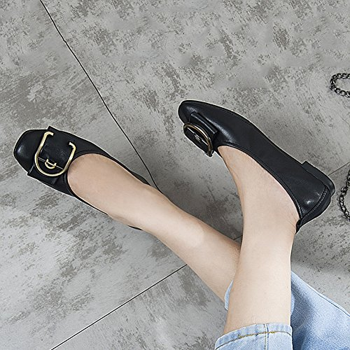 On Comfort Driving Casual Shoes JULY Slip Flat Shoes Loafer Walking Womens T Soft Black Moccasin qaFR48Ax