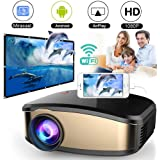 WiFi Video Projector, DIWUER +50% Brighter Projectors, Portable Full HD Mini Movie Projector, Wireless Display for Smartphones, Compatible PC,Mac,USB,AV,HDMI,VGA,Video Games