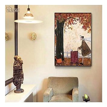 ZXJYH Tissu Décoration Maison Peinture Art Abstrait Fashion ...