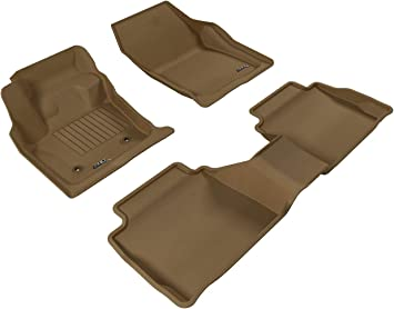 Amazon Com 3d Maxpider All Weather Floor Mats For Ford Fusion 2013 2016 Custom Fit Car Floor Liners Kagu Series 1st 2nd Row Tan Automotive