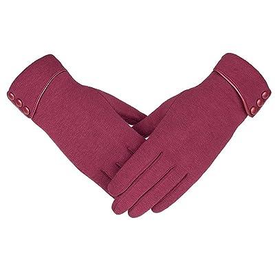 Acelec Gants coupe-vent de molleton de téléphone d'écran tactile des femmes d'hiver chaud portent