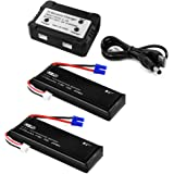 XCSOURCE 2pcs 7.4V 2700mAh 10C Lipo Battery + 2 in 1 Battery Balance Charger for Hubsan H501S Quadcopter BC658