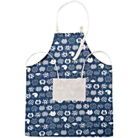 Korean Style Aprons Fashion Cotton Linen with Pocket Unisex Kitchen Cooking Clothes for Restaurant Work BBQ Gardening Home,A