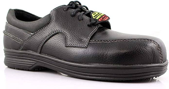 Laforst Mens Saxon 8411 Micro Fiber Water and Stain Resistant Server Slip Resistant Work Shoes
