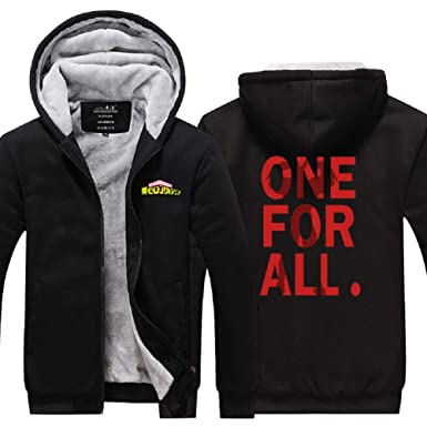 00f6459f My Hero Academia ONE for All Sweatshirt Thick Hoodie Bakugou Katsuki Jacket  at Amazon Women's Coats Shop