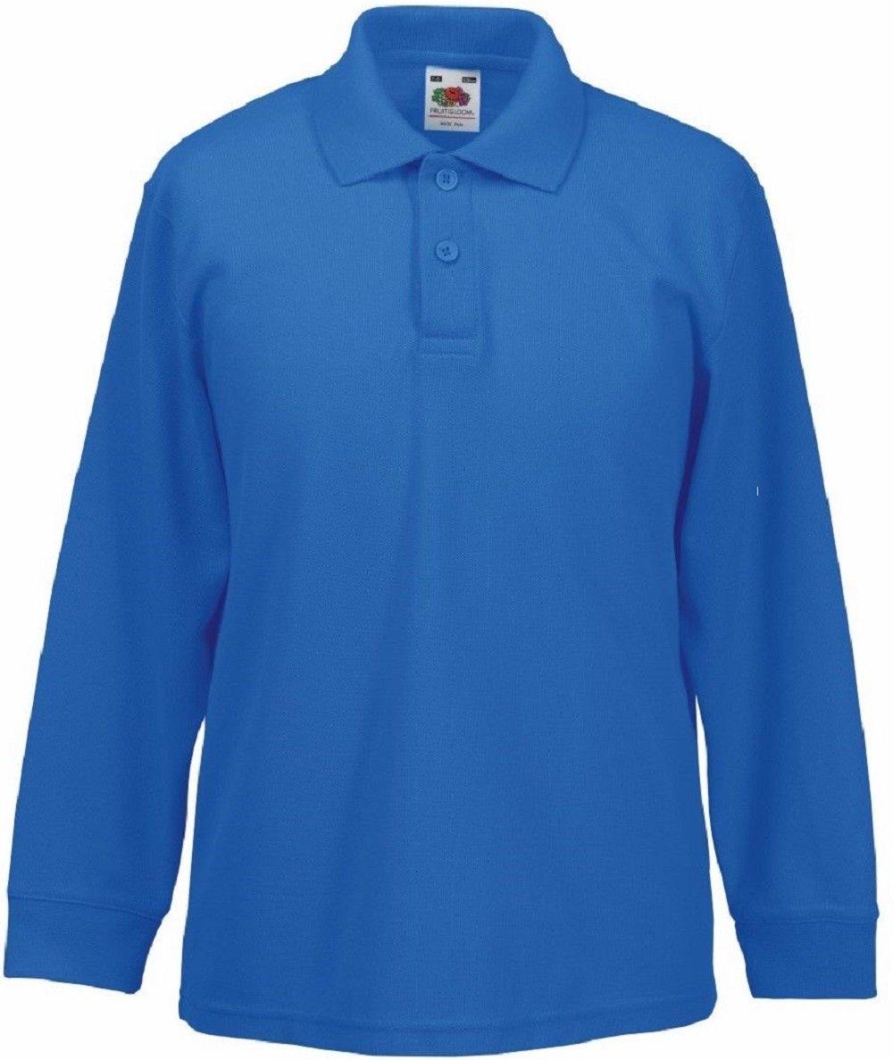 Absab Ltd 2 Pack FOTL Kids School Wear Uniform Childrens Long Sleeve Polo Shirt SS45B