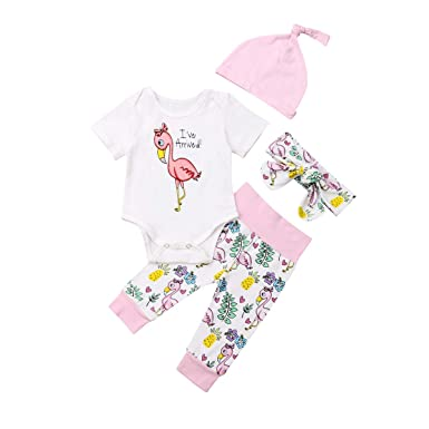 Yilaku Bambina Completini e Coordinati Neonata Neonato Pigiami Due Pezzi Top Pantaloni Abiti Set 2pcs Prima Infanzia Abbigliamento