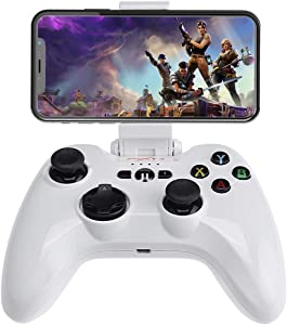 [MFi Certified] iOS Wireless Mobile Game Controller, Megadream Gampad Joystick Support for iPhone Xs, XR X, 8 Plus, 8, 7 Plus, 7 6S 6 5S 5, iPad, Apple TV - Direct Play