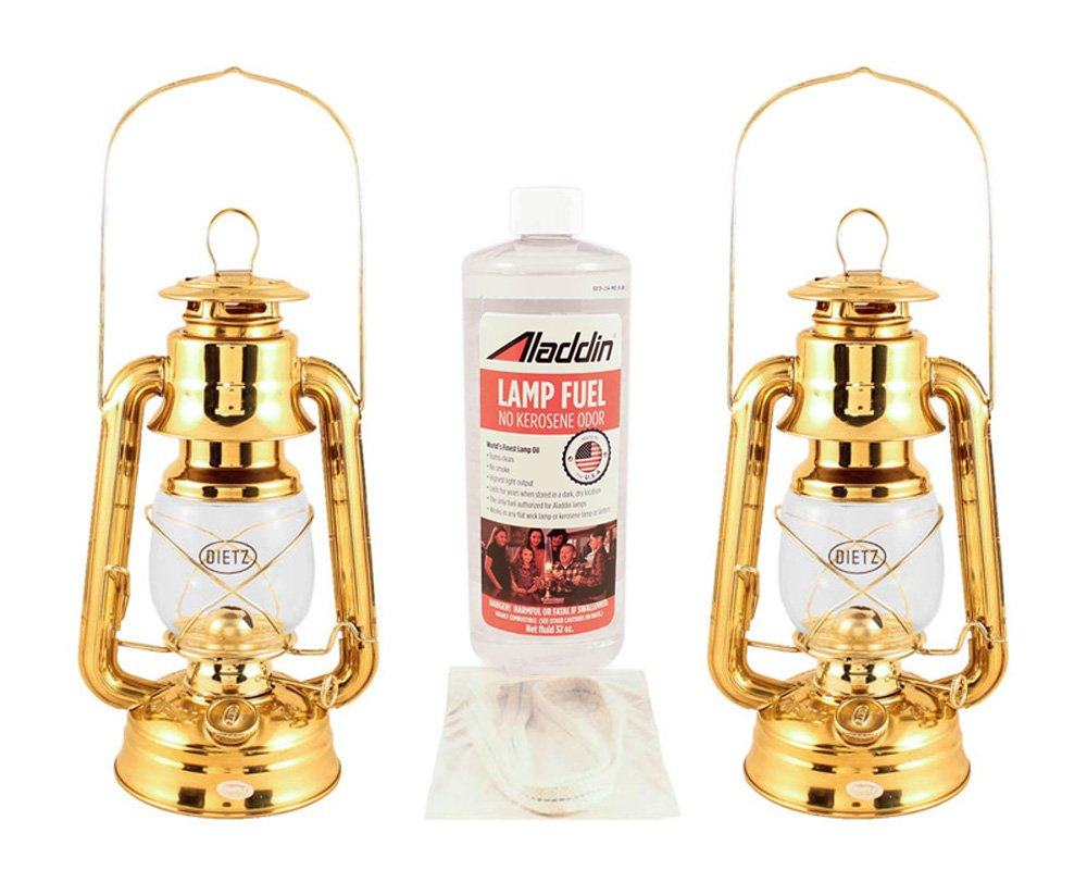 Hurricane Lantern Kit - Dietz Lanterns #76 Brass - Storm Lanterns by Vermont Lanterns