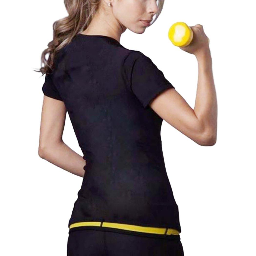 VENI MASEE Frauen Sauna Sweat Anz/üge Taille Trainer Body Shaper Hei/ßer Schwei/ß Workout Shirt Abnehmen Neopren Shapers Fitness