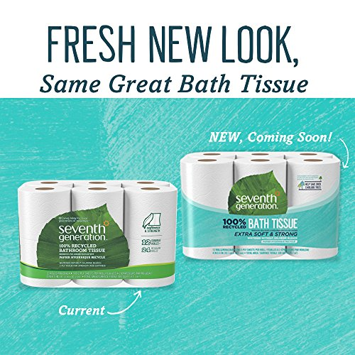 Large Product Image of Seventh Generation Toilet Paper, Bath Tissue, 100% Recycled Paper, 12 Rolls (Packaging May Vary)