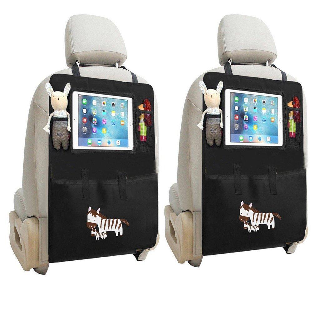 2 Stück Auto Rückenlehnenschutz, TMEOG Rücksitztasche Rücksitz Organizer Rückenlehnentasche mit iPad-Fach Wasserdicht (Löwe)