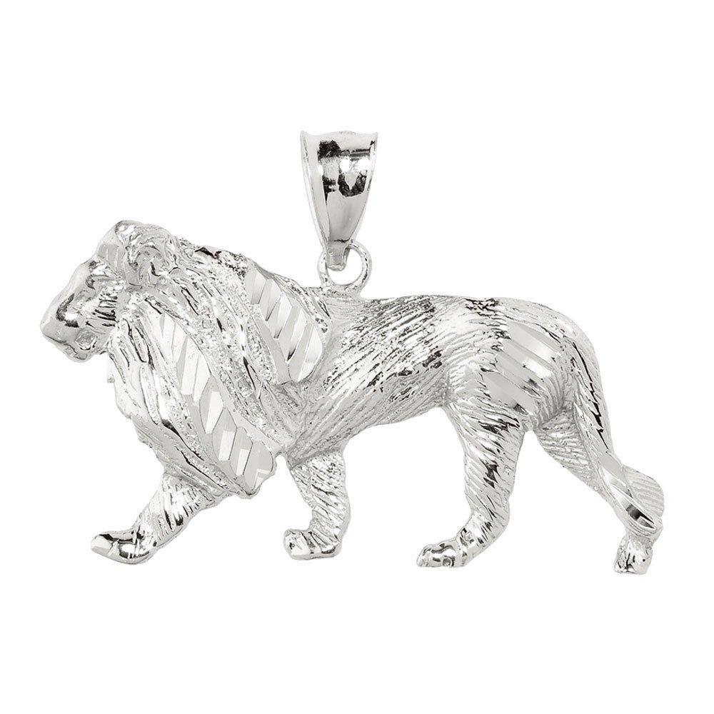 Men's 925 Sterling Silver Lion Necklace Pendant