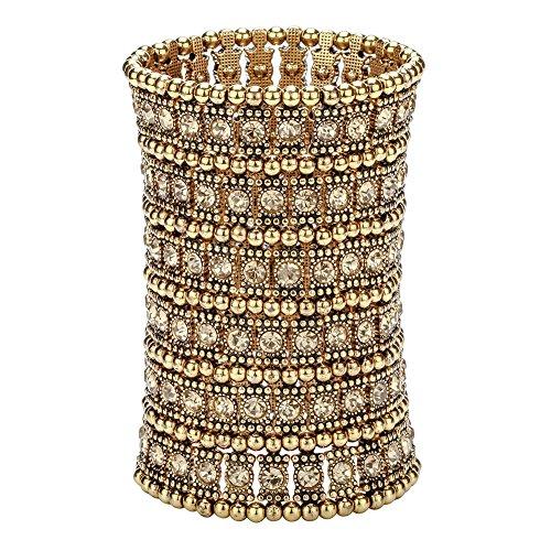 Hiddleston Multilayer 6 Row Jewelry Gothic Stretch Bracelet Sleeve Arm Armband Armlet Cuff Rocker Wristband Heavy Metal Bobo Halloween Costume Women Accessory