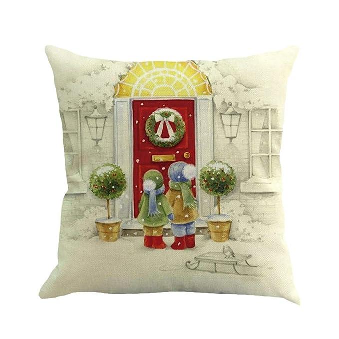 Amazon.com: ZGstore - Funda de cojín con diseño de Papá Noel ...