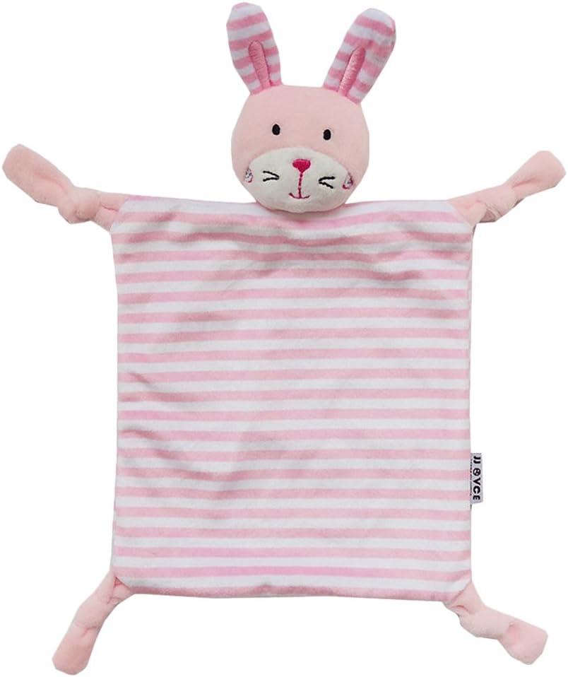 YeahiBaby Doudou bebé Peluche Mantitas de arrullo Manta de seguridad Diseño de conejo