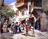 Frederick Arthur Bridgeman Marketplace in North Africa - 24'' x 30'' 100% Hand Painted Oil Painting Reproduction