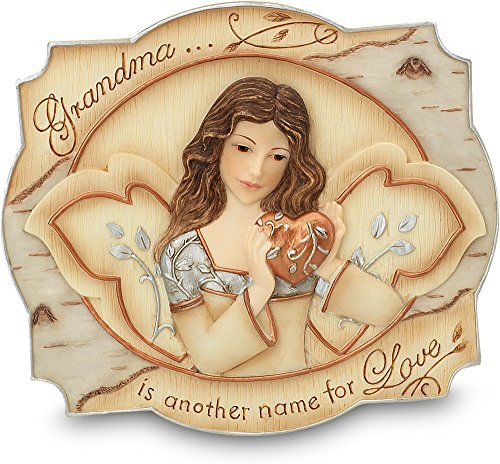 Beauty Angel Plaque (Elements Grandma Plaque by Pavilion, 3-1/2 by 4-Inch, Inscription Grandma is AnoTher Name for Love, Includes Easel and)