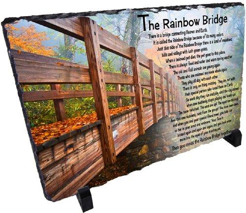 Rainbow Bridge - Stone Pet Memorial from Redeye Laserworks