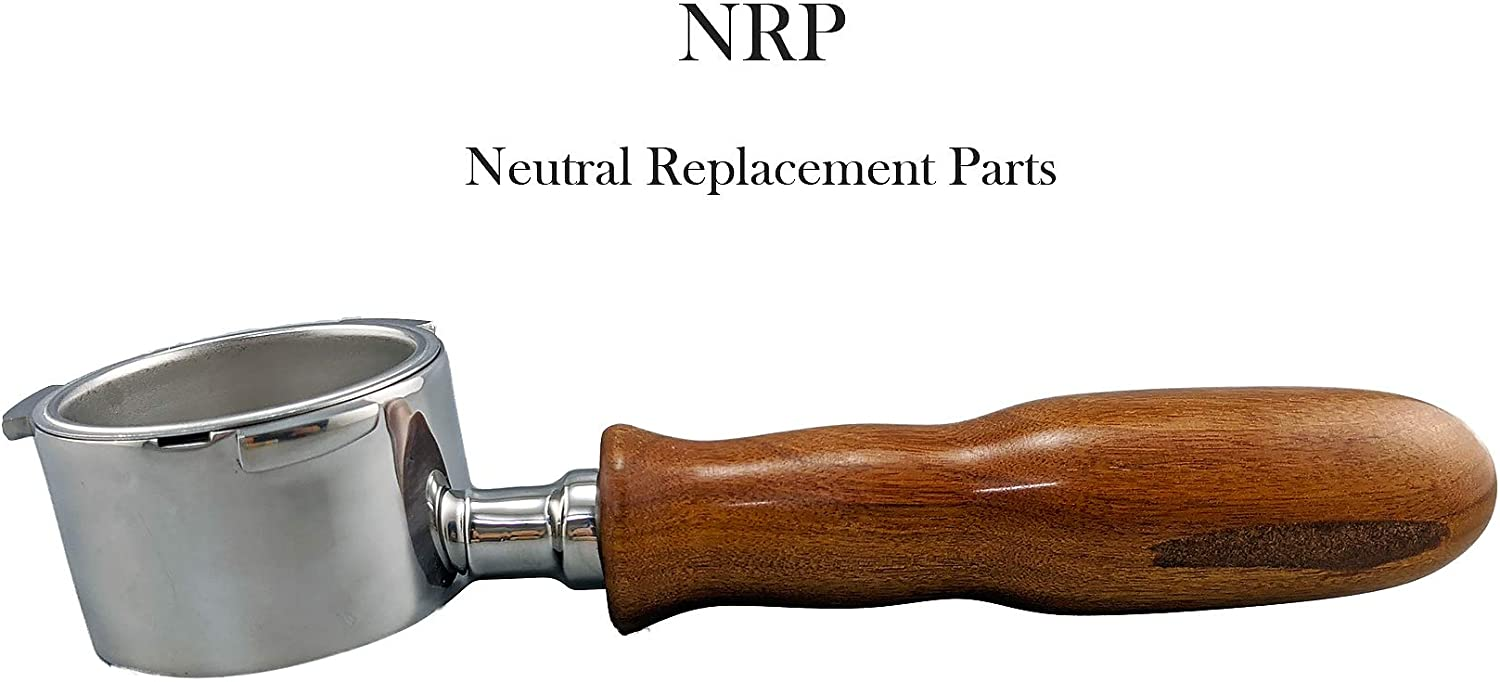 NRP Rosewood Naked Portafilter 51mm Replaces for DeLonghi