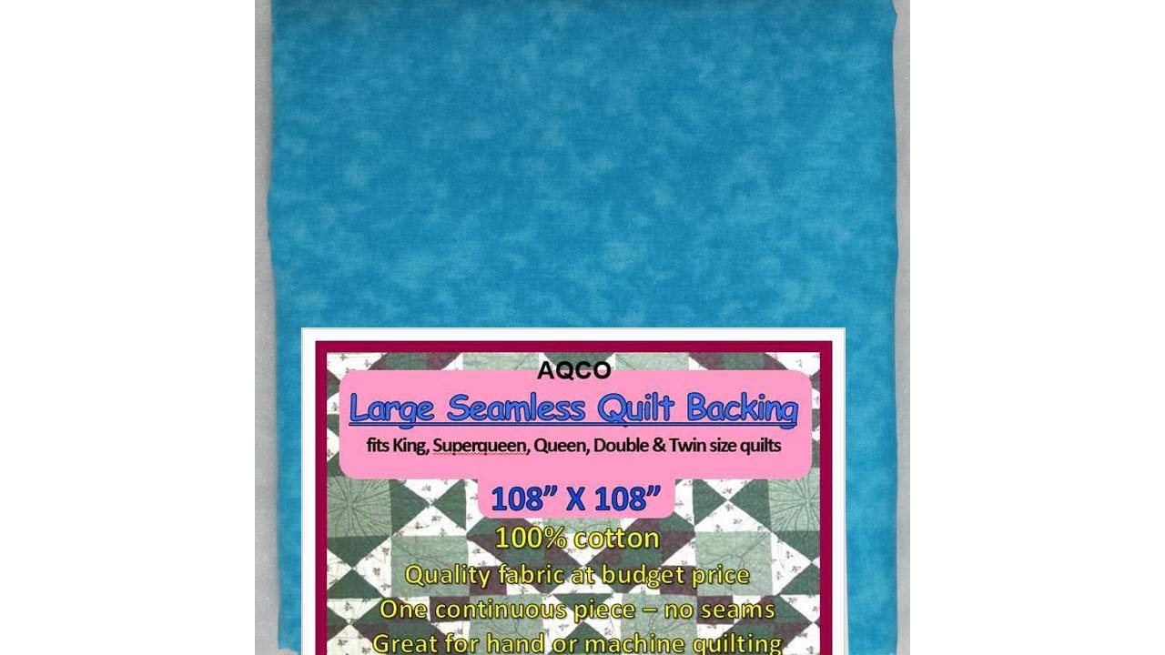 Quilt Backing, Large, Seamless, C44395-A03, Blue Atoll, from AQCO by Quilt Backing - Choice