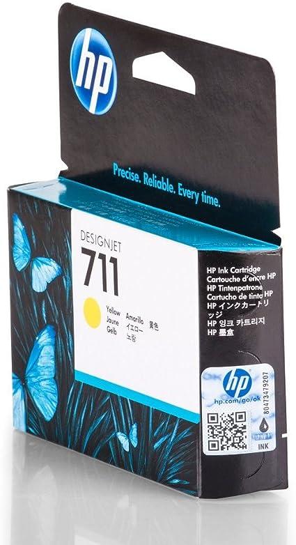HP 711 - Cartucho de Tinta para impresoras (Amarillo, 29 ml, HP ...