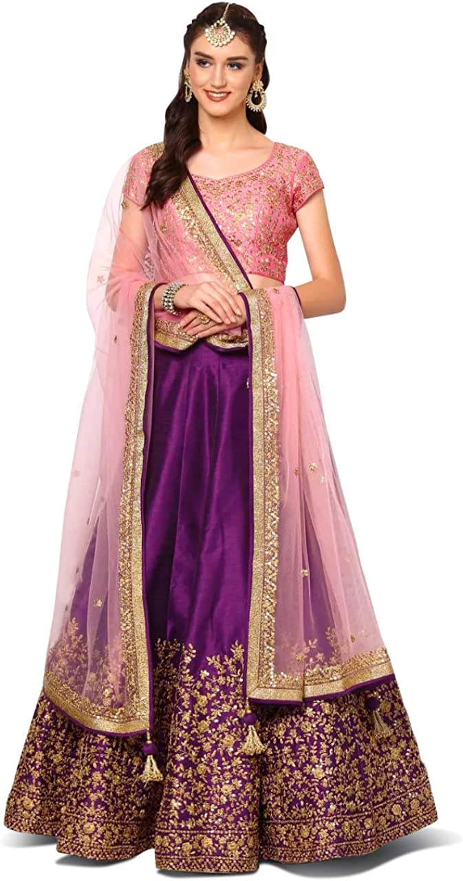 Bollywood Hochzeit Lehenga Indian Traditionell Schwer Pakistaner Party Lengha
