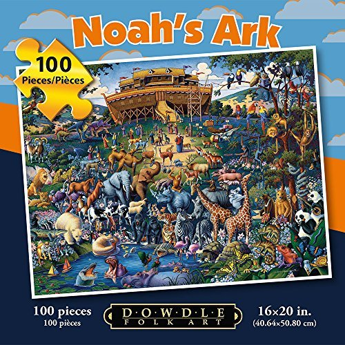 Dowdle Folk Art Noah's Ark 100pc 16x20 Puzzles