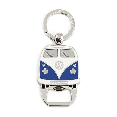 BRISA VW Collection - Volkswagen Samba Bus T1 Camper Van Key Ring Chain/Bottle Opener, Gift Idea/Fan Souvenir/Retro Vintage Product (Blue): Automotive