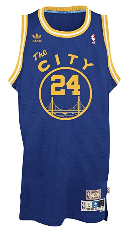 hot sale online 9c8c9 8e0b5 adidas Rick Barry Golden State Warriors NBA Throwback Swingman Jersey - Blue