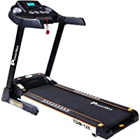 Powermax Fitness TDM-125 2.0HP Motorized Treadmill with Android & iOS App and Semi-Auto Lubricating
