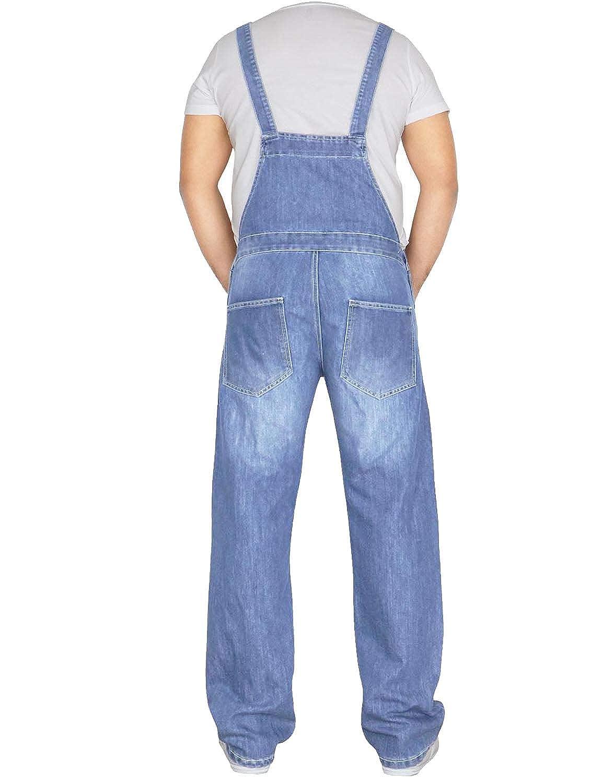 Von Denim Mens Dungarees Overalls King Size Jumpsuit 30-46