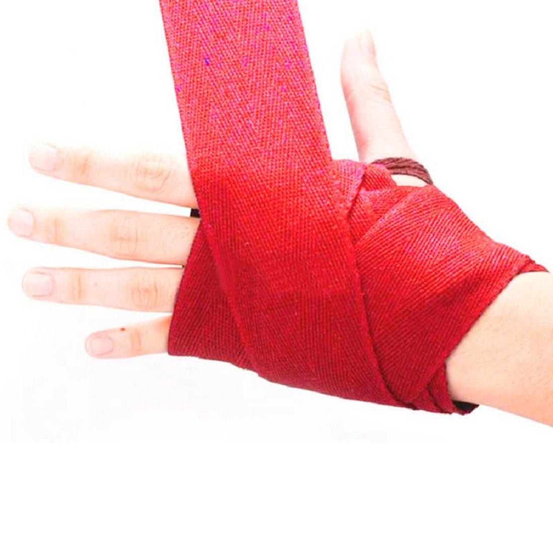 Sukisuki 1Pair Boxing Handwraps Bandage Punching Hand Wrap Exercise Training Gloves 2.5m