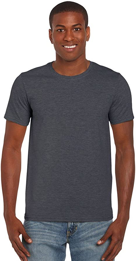 GILDAN Mens Softstyle Adult Ringspun T-Shirt Dark Chocolate L Chest 42-44