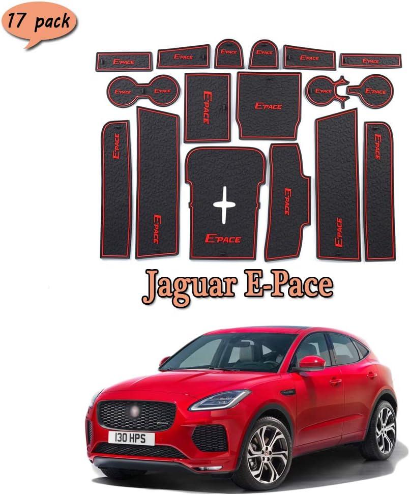 LAUTO Pad Slot per portiera Auto Tappetini Anti-Polvere per Interni Auto Emulsione Tappetini Antiscivolo per Interni Auto per Jaguar E-Pace 17 PCS//Set,Antipolvere e Impermeabile,Bianca