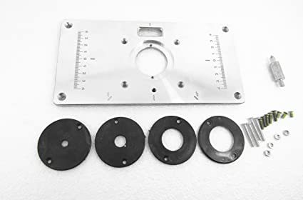 Yifun trade brand new diy woodworking aluminum router table insert yifun trade brand new diy woodworking aluminum router table insert plate for trimmers routers 235 x keyboard keysfo Image collections