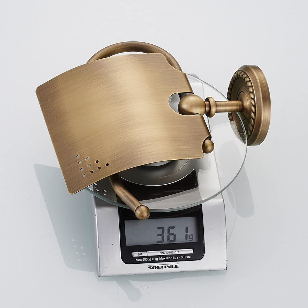 Papierrollenhalter Wandmontage f/ür Badezimmer und K/üche BigBig Home Toilettenpapierhalter Retro Gold Klorollenhalter mit Antik Messing Finished