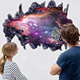 CHANS® 3D Outer Space Galaxy Meteorites Wall Stickers,Removable Vinyl Wall Art Murals,DIY Home Decals