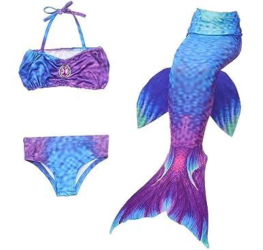 3 Stücke Kind Mädchen Bikini Set Mermaid Schwanz Mädchen Bademode Sommer Chidren Mädchen Badeanzug Schwimmen Kostüm Sport & Unterhaltung Bikini-set