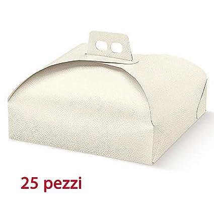 25 unidades porta tartas de 25 x 25 cm para alimentos, caja de ...