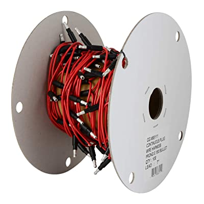 "GG Grand General 88111 Red Wire Roll (7"" Single 0.180 Bullet Continuous, 100 Plug): Automotive"