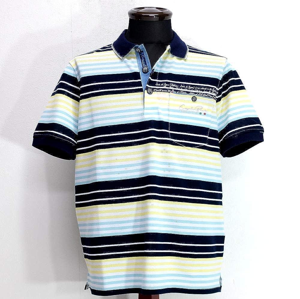 50343 CAPRI カプリ ストレッチ 鹿の子ポロシャツ 半袖 マルチ 48(L) サイズ メンズ カジュアル 男性 春夏 ゴルフ 通販   B07Q12T787