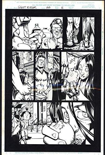 Josh Hood/Derek Fisher Original Comic Art Page Ghost Rider Issue 88 Page 16