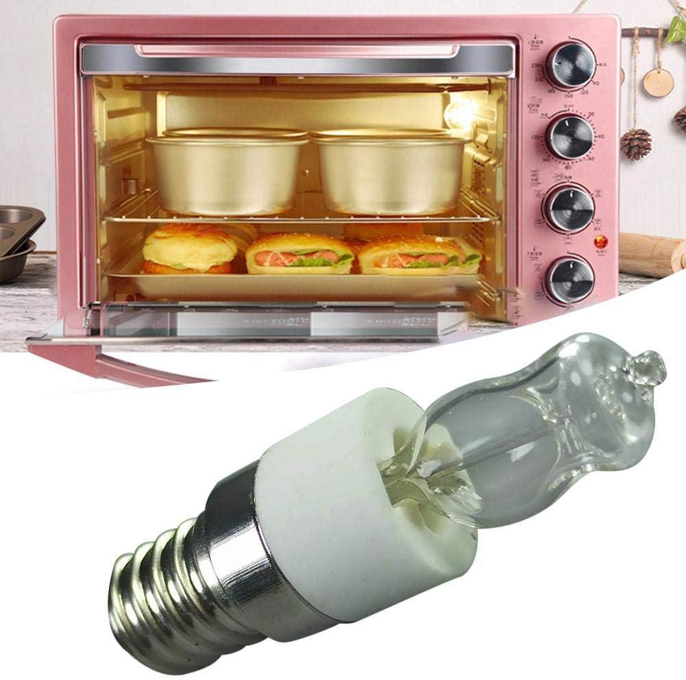 4er Set Backofenlampe 50w 500 Grad Backofen Gl/ühbirne Gl/ühbirne Mikrowelle Halogen Birne E14 Edison Gl/ühbirne Dunstabzugshaube Lampe Salzsteinlampe
