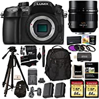 Panasonic LUMIX GH4 Digital Single Lens Mirrorless Camera with 4K Cinematic Video + G Leica DG Nocticron 42.5mm ASPH Power OIS Lens + 2x Transcend 64GB + Polaroid Tripod + 2 Batteries Accessory Bundle Noticeable Review Image