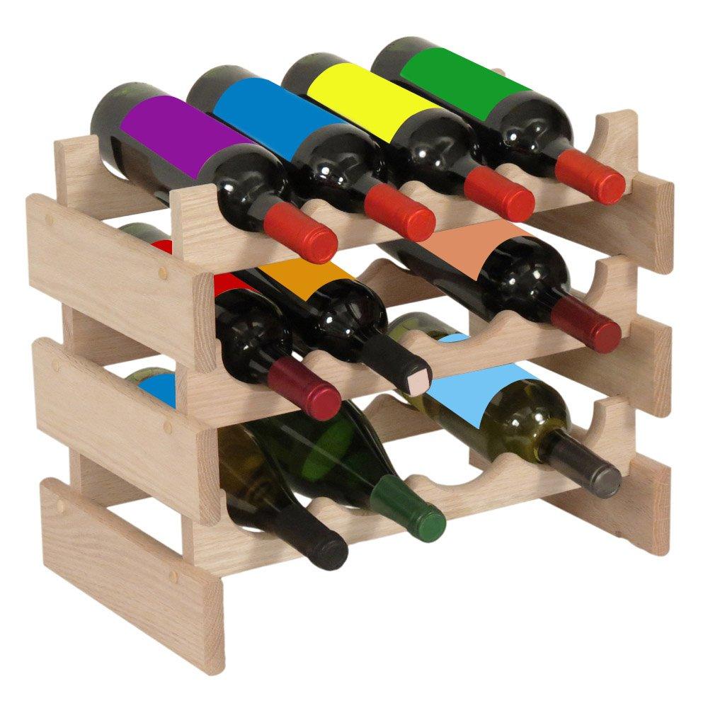 Wooden Mallet 28 Bottle Dakota Wine Rack, Black